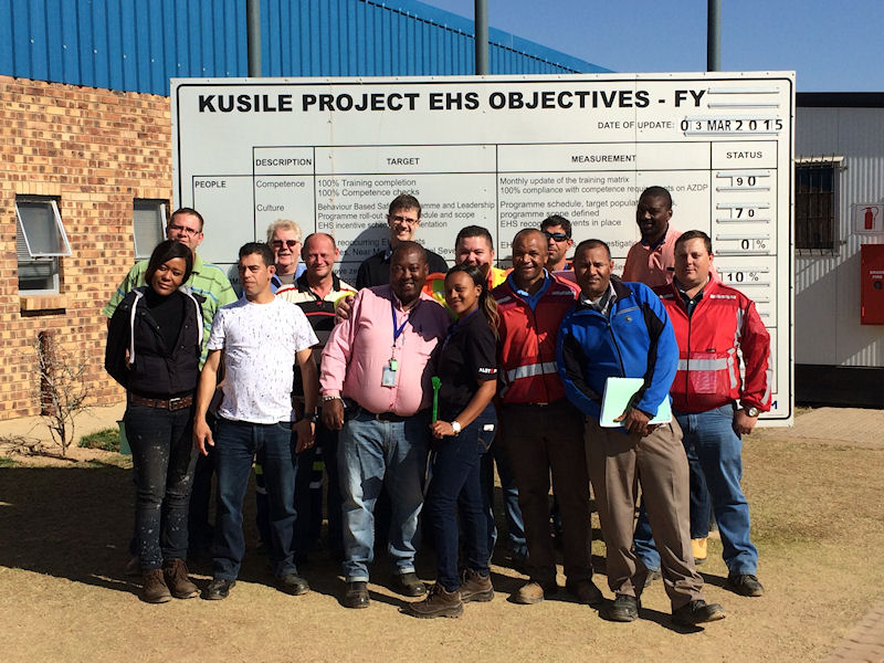 Alstom team in Kusile, South Africa